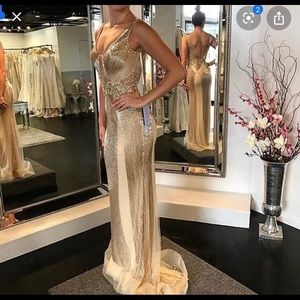 Jovani Couture Gold Gown